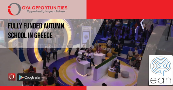 Fully Funded Autumn School in Greece