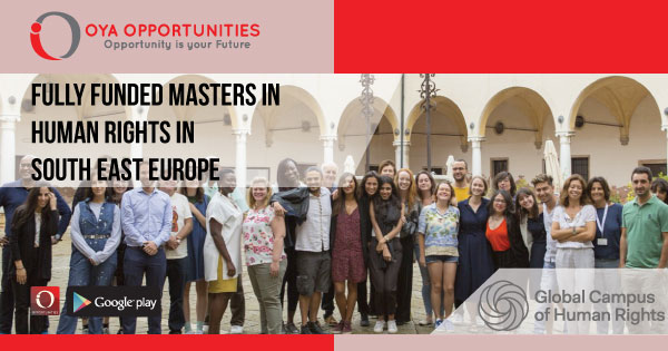 Fully Funded Masters in Human Rights in South East Europe