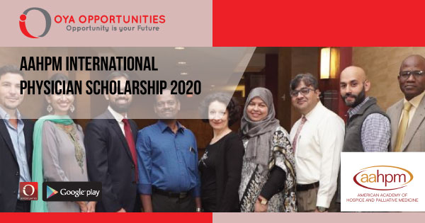 AAHPM International Physician Scholarship 2020
