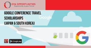 Google Conference Travel Scholarships (Japan & South Korea)