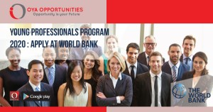 Apply young professionals program 2020 at World Bank