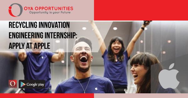 Recycling Innovation Engineering Internship | Apply at Apple