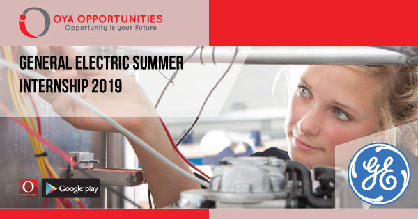General Electric Summer Internship 2019