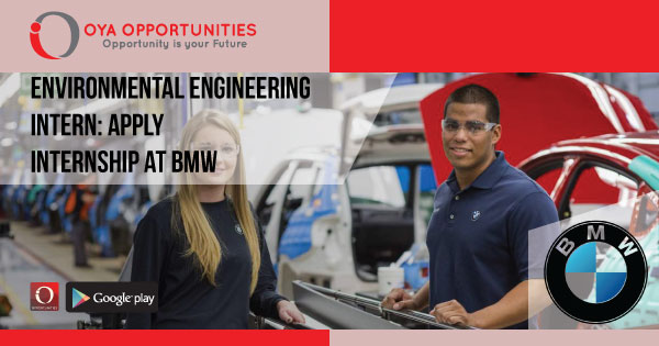 Environmental Engineering Intern | Apply Internship at BMW