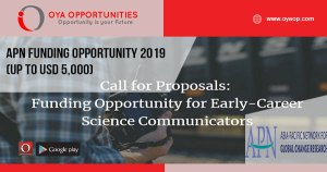 APN Funding Opportunity 2019 (Up to USD 5,000)