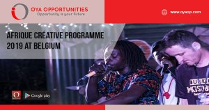 Afrique Créative Programme 2019 at Belgium