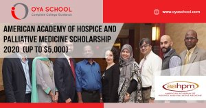 American Academy of Hospice and Palliative Medicine Scholarship 2020 (up to $5,000)