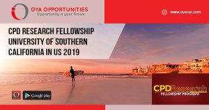 CPD Research Fellowship University of Southern California in US 2019