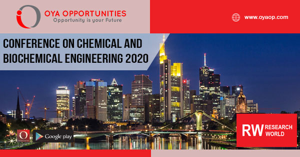 Conference on Chemical and Biochemical Engineering 2020 Germany