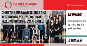 Christine Mirzayan Science and Technology Policy Graduate Fellowship 2020, USA (Funded)