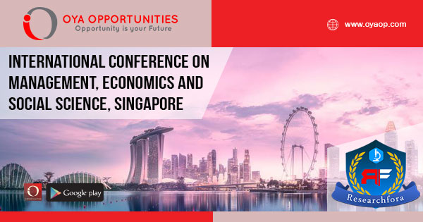 International Conference on Management, Economics and Social Science 2020, Singapore