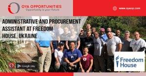 Freedom House Jobs in Ukraine