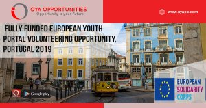 Fully Funded European Youth Portal Volunteering opportunity, Portugal 2019
