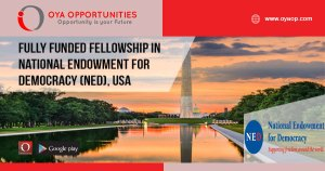 Fully Funded Fellowship in National Endowment for Democracy (NED), USA