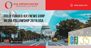 Fully Funded ICFJ News Corp Media Fellowship 2019,USA
