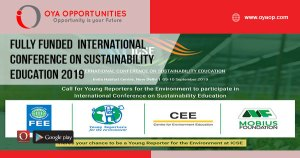 Fully Funded International Conference on Sustainability Education 2019