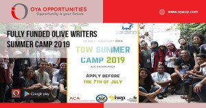 Fully Funded Olive Writers Summer Camp 2019