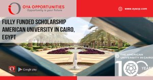 Fully Funded Scholarship American University in Cairo, Egypt