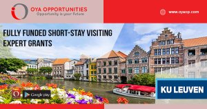 Fully Funded Short-stay Visiting Expert Grants