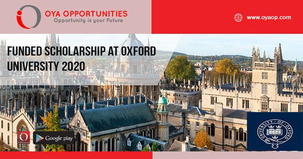 Funded Scholarship at Oxford University 2020