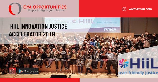 HiiL Innovation Justice Accelerator 2019