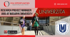 Research Project Manager jobs at Masaryk University
