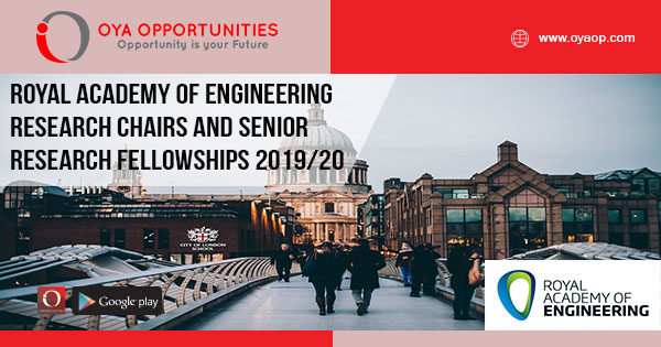 Royal Academy of Engineering Research Chairs and Senior Research Fellowships 2019/20