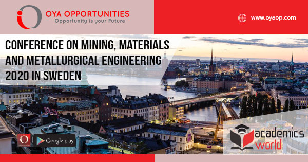 Conference on Materials and Metallurgical Engineering 2020 in Sweden