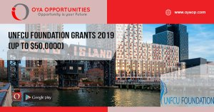UNFCU Foundation Grants 2019 (up to $50,0000)