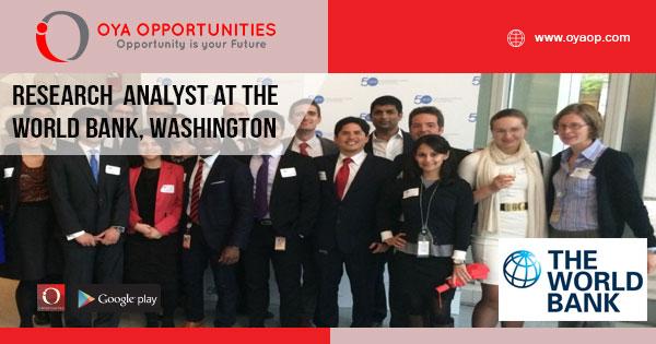 Jobs at World Bank in Washington