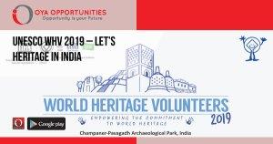 UNESCO WHV 2019 – Let's Heritage in India