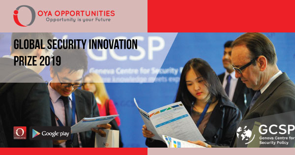 Global Security Innovation Prize 2019