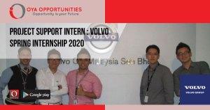 Project Support Intern | Volvo Spring Internship 2020