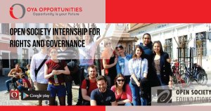 Open Society Internship for Rights and Governance (Fully Funded)