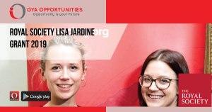 Royal Society Lisa Jardine Grant 2019