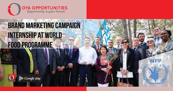 Brand Marketing Campaign Internship at World Food Programme