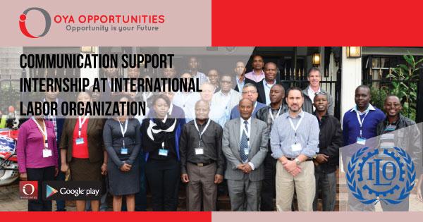 Communication Support Internship At International Labor Organization