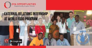 External Relations Internship at World Food Program