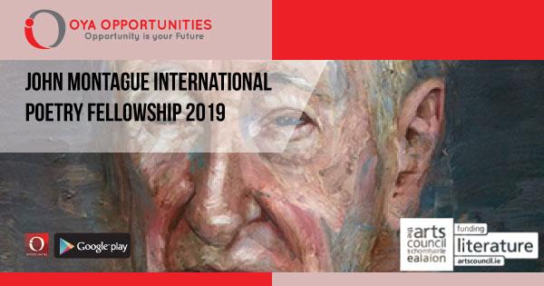 John Montague International Poetry Fellowship 2019