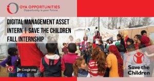 Digital Asset Management Intern | Save the Children Internship