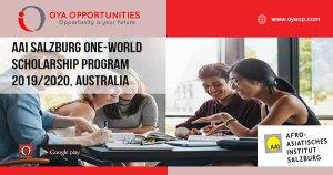 AAI Salzburg One-World Scholarship Program 2019/2020, Australia