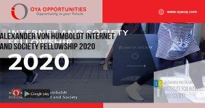 Alexander von Humboldt Internet and Society Fellowship 2020