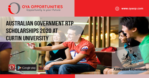 Australian Government RTP Scholarships 2020 at Curtin University