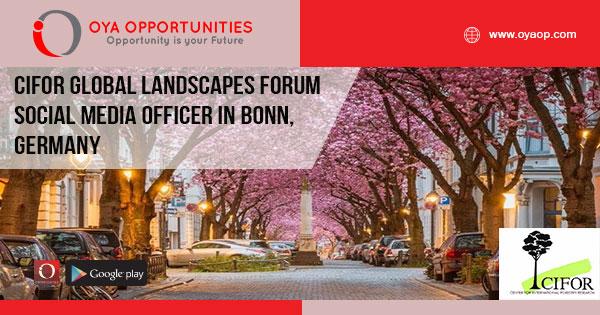 CIFOR Global Landscapes Forum Social Media Officer in Bonn, Germany