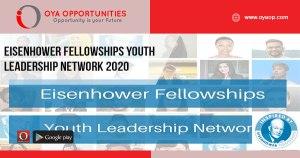 Eisenhower Fellowships Youth Leadership Network 2020
