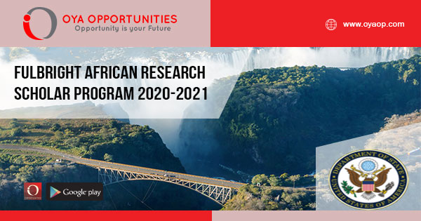 Fulbright African Research Scholar Program 2020-2021