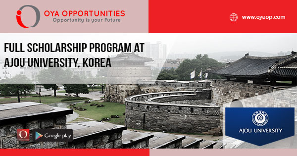Full Scholarship Program at Ajou University, Korea