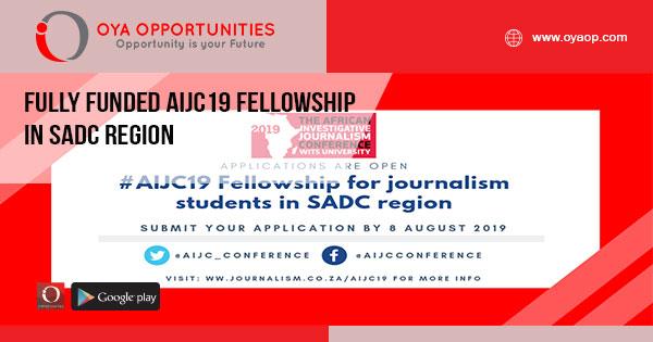 Fully Funded AIJC19 Fellowship in SADC Region