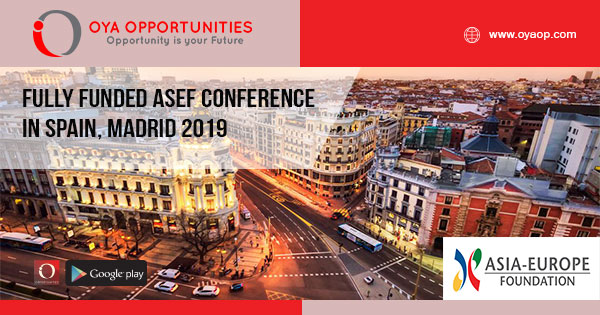 Fully Funded ASEF Conference in Spain, Madrid 2019