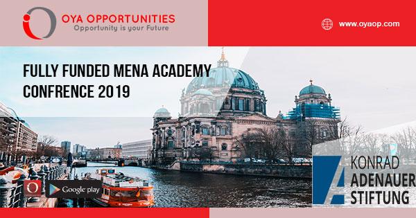 Fully Funded MENA Academy Confrence 2019